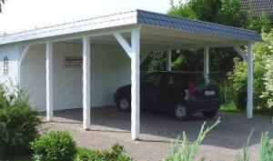 Carport mit Schieferblende und Gerätekammer 2