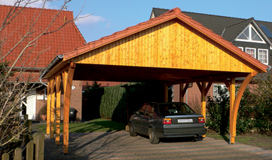 doppelcarport aus fichte mit satteldach. Black Bedroom Furniture Sets. Home Design Ideas