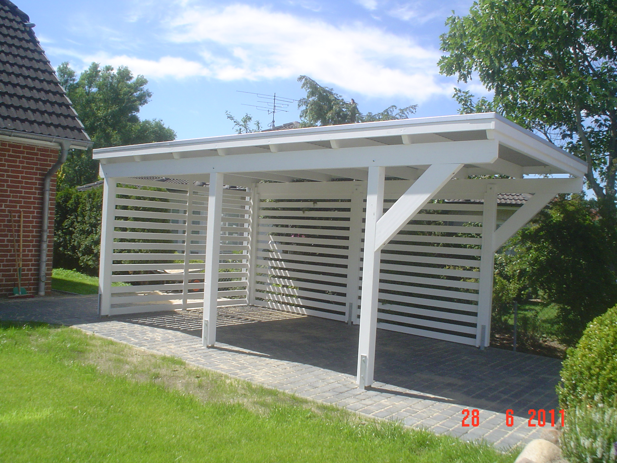 carport holz wei up54 hitoiro