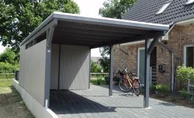Einzelcarport Lüneburg mit Geräteraum