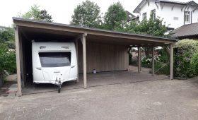 Carport mit Pultdach